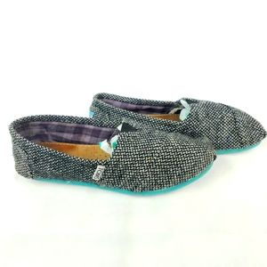 Toms Slip On Loafers 9.5 Knit Gray
